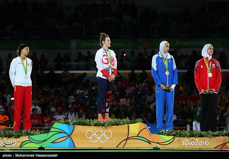 Olympic Podium With Women On It